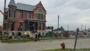 Final Touches on the Ransom Gillis House