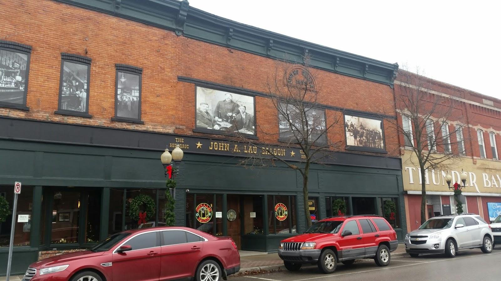 John A. Lau Saloon in Alpena, Michigan