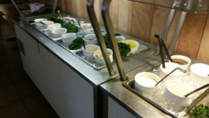 The Salad Bar at the AuSable River Restaurant in Mio, Michigan