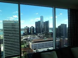 View from the Room at the Greektown Hotel
