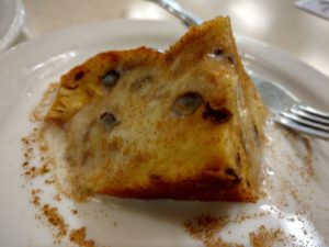 HomeTown Grill's Bread Pudding with Vanilla Sauce