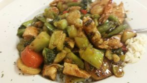HomeTown Grill's Sweet & Sour Chicken over Rice