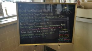 """HomeTown Grill's """"Specials"""" Board at the Entrance (10 Soups!)"""