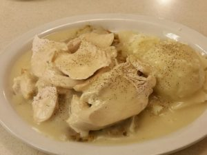 HomeTown Grill's Turkey, Stuffing, and Mashed Potatoes