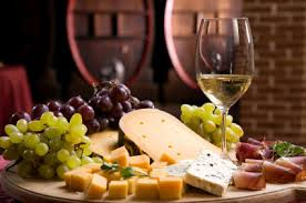 Entertaining with a Wine and Cheese plate.