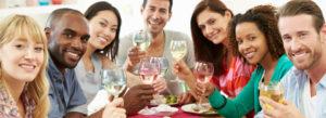 People Enjoying Wine!