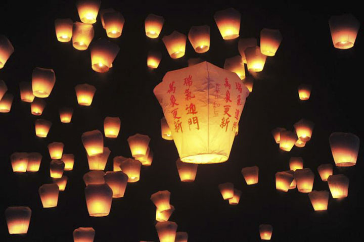 Lunar New Year Festivals in Taiwan 2020: Pingxi Sky Lantern Festival in Pingxi (Feb 8, 2020)