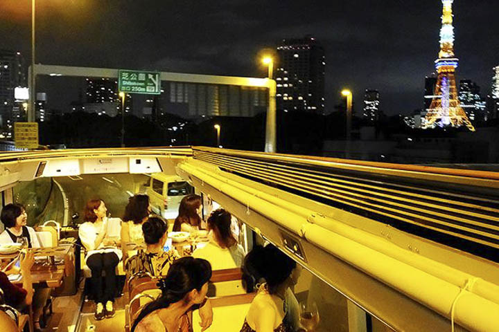 Top Things to do in Tokyo: Take in the Tokyo sights while fine dining on a bus