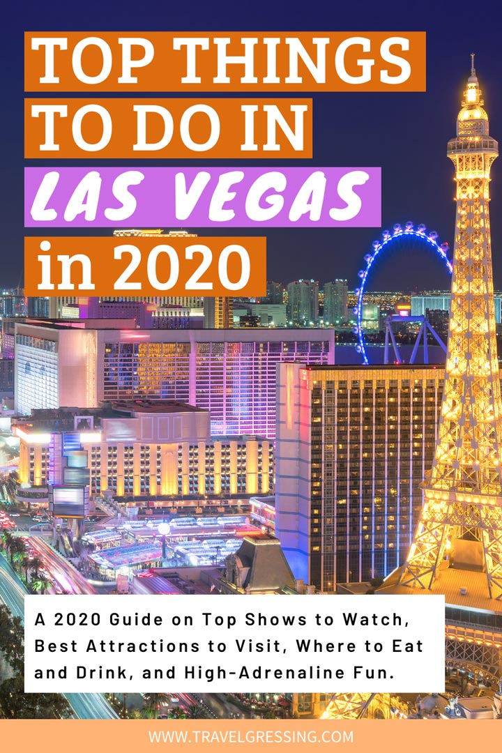 Check out my guide on top things to do in Las Vegas in 2020 featuring top Las Vegas shows to watch, new attractions, new restaurants, spas for relaxation and rejuvenation, and activities to pump up your adrenaline.  *#LasVegas | Las Vegas | Las Vegas Travel | Las Vegas Things To Do | Las Vegas Vacation | Las Vegas Weekend | What to do in Las Vegas | Las Vegas Attractions | Nevada | USA
