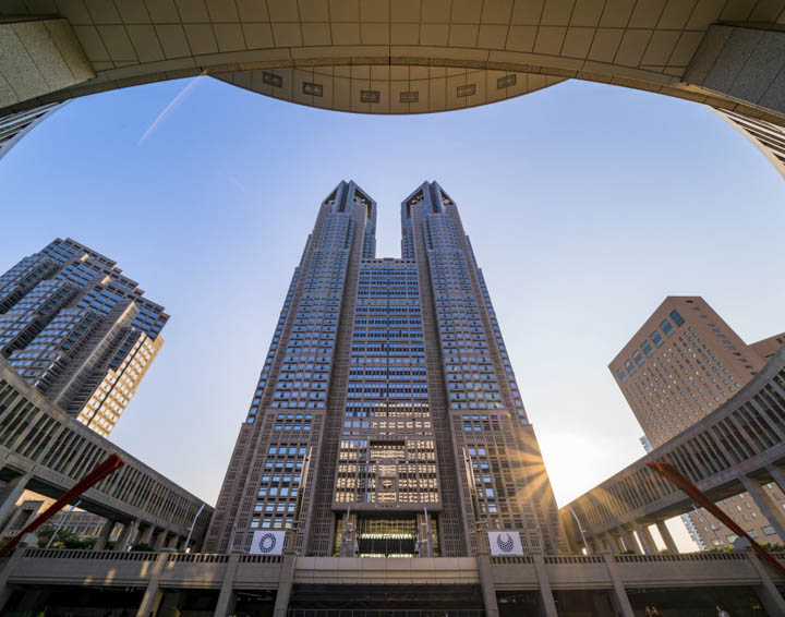 11 Best Places to View the Tokyo Skyline for Free: Tokyo Metropolitan Government Building (Shinjuku City)
