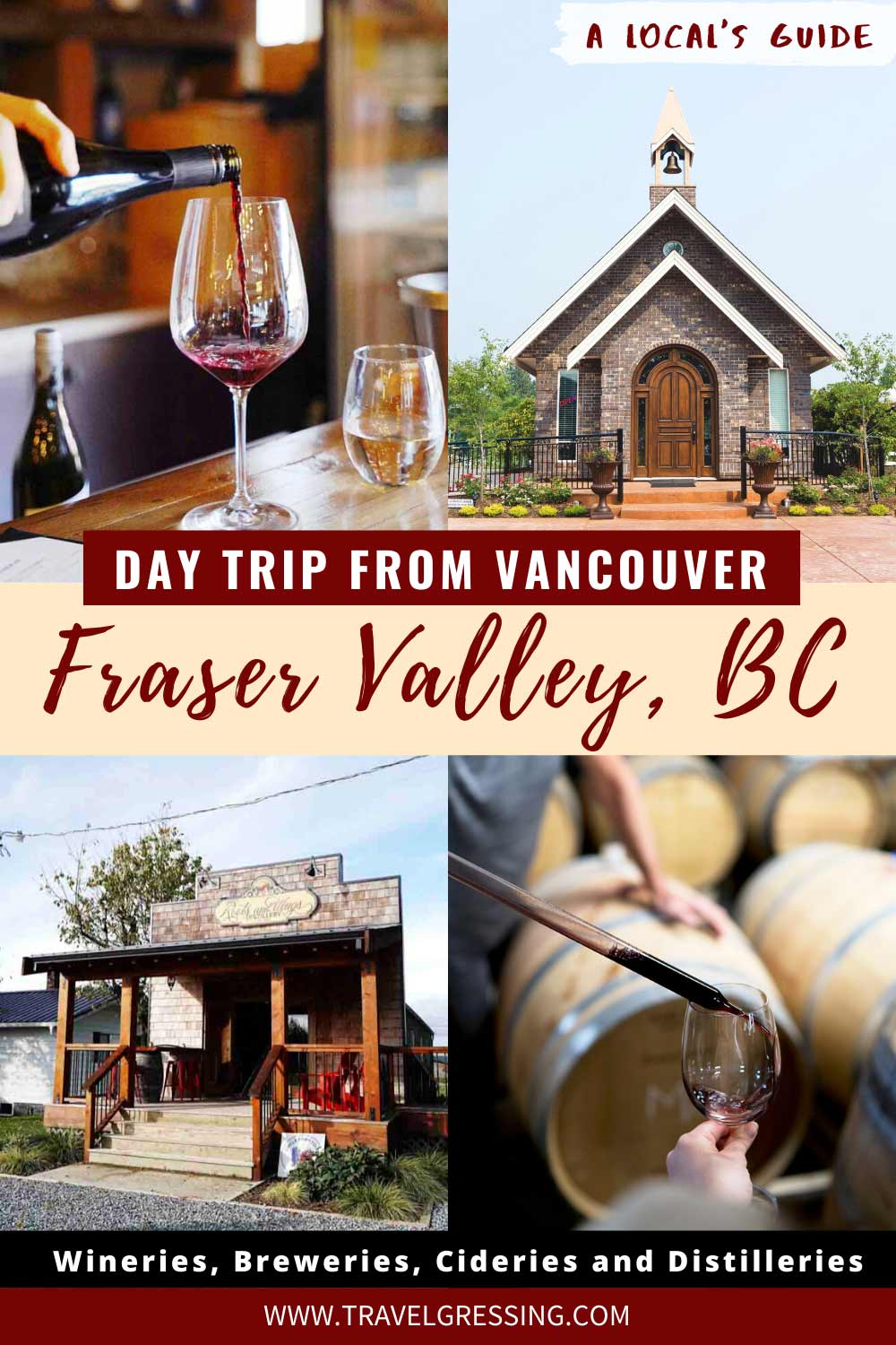 Wineries, Breweries, Cideries and Distilleries in Canada's Fraser Valley BC