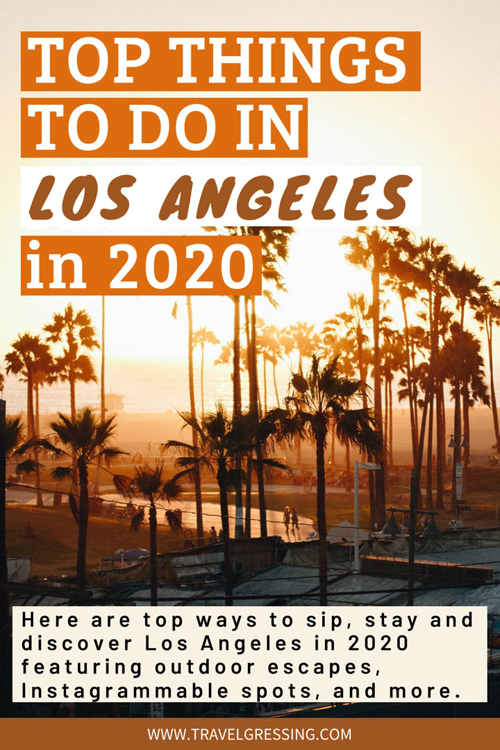 There is still much to be explored in Los Angeles in 2020. Here are top ways to sip, stay and discover Los Angeles California this year featuring outdoor escapes, Instagrammable spots, and more. #LosAngeles | Los Angeles | Los Angeles Travel | Los Angeles Things To Do | Los Angeles Vacation | Los Angeles Weekend | What to do in Los Angeles | Los Angeles Attractions | Los Angeles 2020 | LA Travel | LA | California