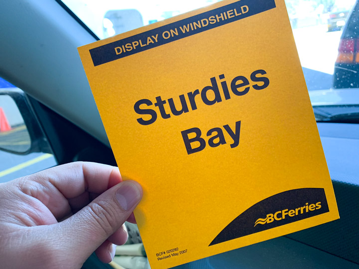 BC Ferries Trip Victoria to Galiano Island: What to Expect Signage