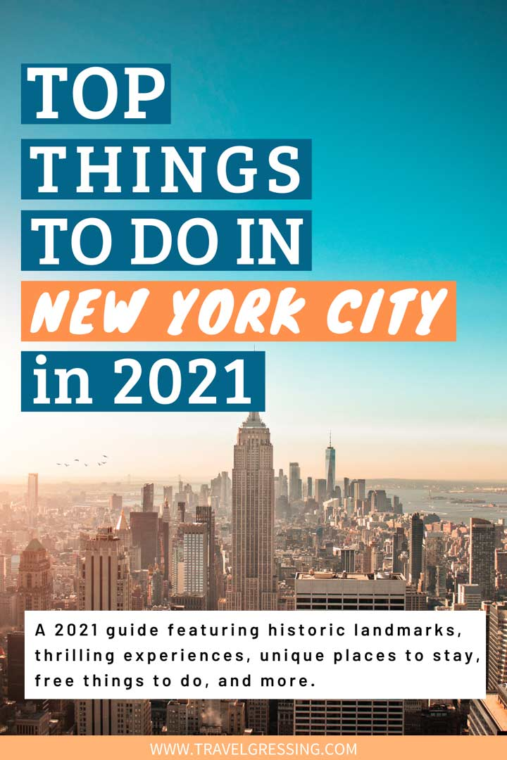 Top things to do in New York City in 2021