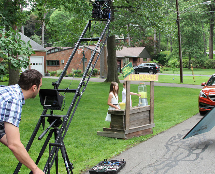 mike kelly lemonade stand commercial production