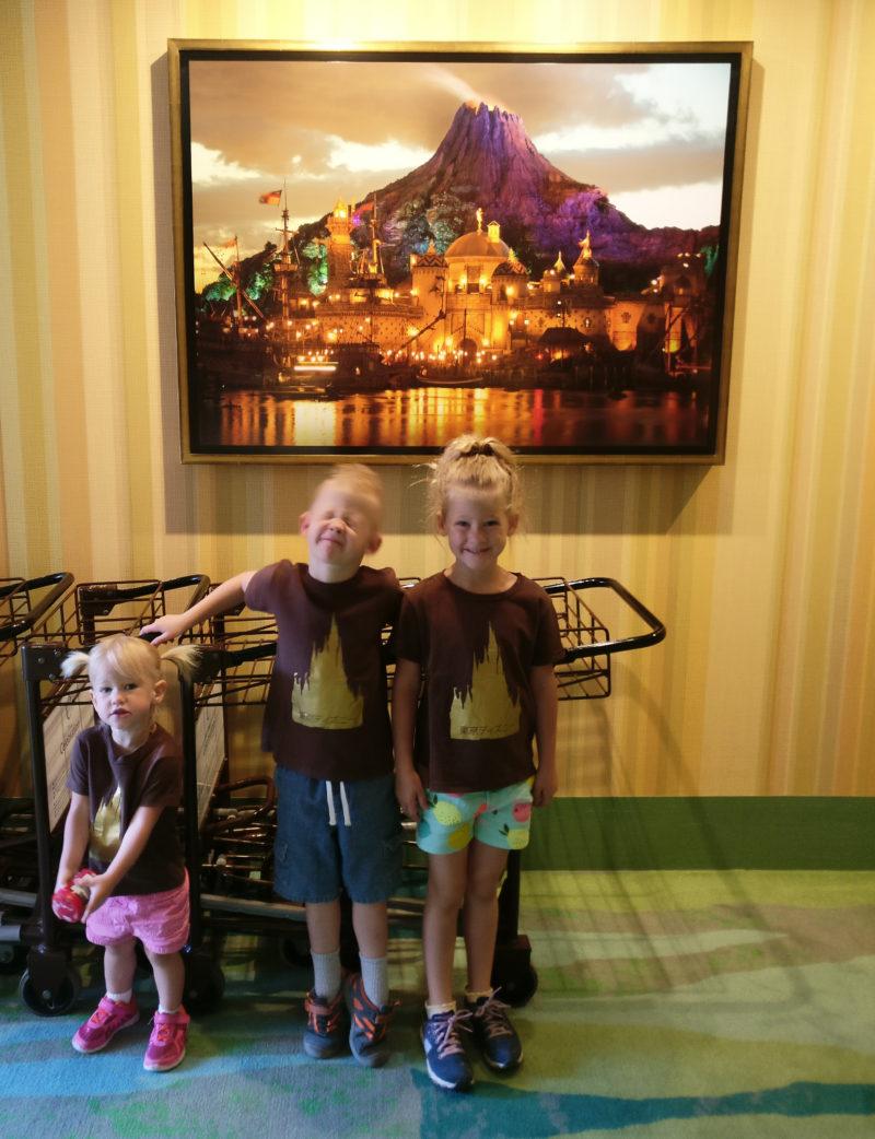 Hallway at the Tokyo Disney Hotel