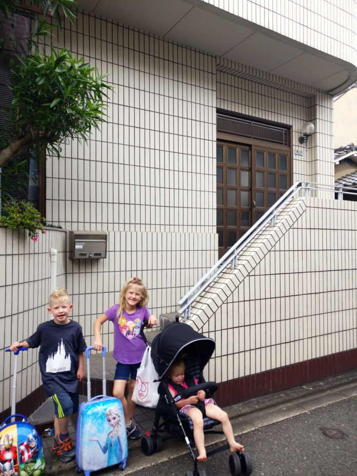 Japan, Asia, Shower, Japanese Shower, Traveling with kids, family travel, diapersonaplane, Diapers On A Plane, AirBnb,Fushimi Inari-Taisa
