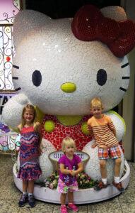 Hello Kitty, Sanrio, Shinjuku, Flagship store, family travel, traveling with kids, diapersonaplane, Diapers On A Plane,
