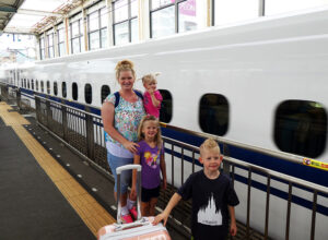 JR, JR Rail Pass, Metro, Subway, Japan, Diapers on a plane, DiapersONAPLANE, traveling with kids, family travel, rush hour japan, Riding the Shinkansen, Nozomi,