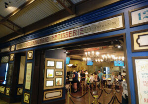 Les Halles Boulangerie patisserie, walt disney world, epcot, france pavillion, diapersonaplane, Diapers On A Plane, traveling with kids, family travel, creating family memories