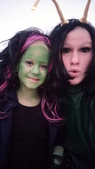 Mantis Halloween Costume, Guardians of the Galaxy, Halloween Costume Tutorial, Diapers on a plane, diapersonaplane, traveling with kids, creating family memories, family travel
