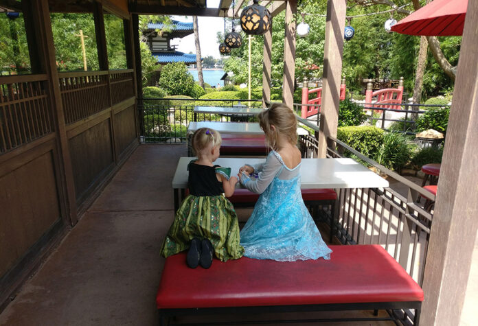 Katsura Grill, Japan, Epcot, World Showcase, walt disney World, diapersonaplane, diapers on a plane, creating family memories, traveling with kids, family travel,, shave ice sushi at wdw, kabuki cafe