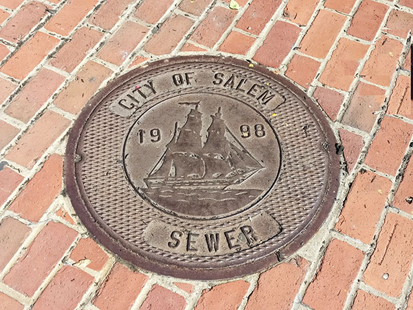 Witch City, Massachusetts Sewer Grate