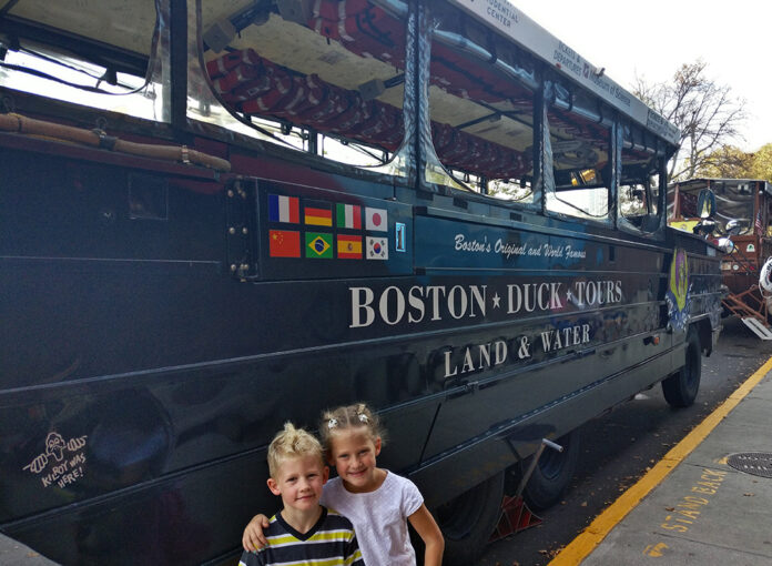 Duck Tours, Duck Tour, DUKW, Diapersonaplane, Diapers on a plane, boston, massachusetts, creating family memories, family travel, traveling with kids, charles river, boat, car, tours, history