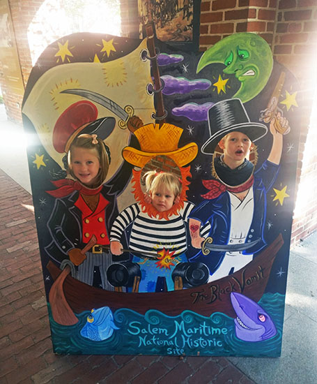 Witches Cutout in Salem Massachusetts