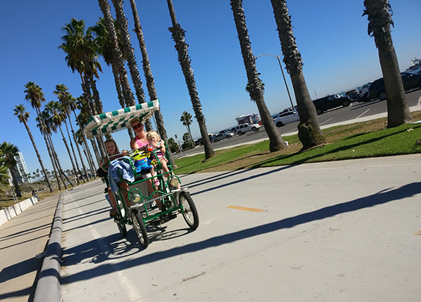 Long Beach, Biking, Biking on the Beach, Sand, Sun, Ocean, Swimming, 2017 Year in Review, diapersonaplane, diapers on a plane, creating family memories, family travel, traveling with