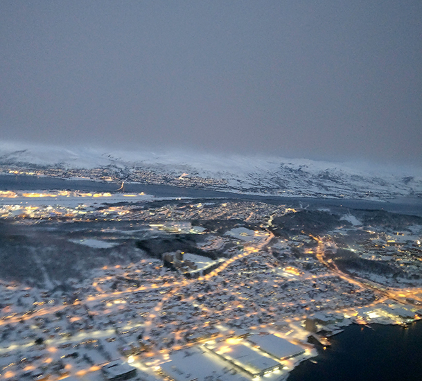 Tromso, Norway, Ariel View, SAS Airlines, 2017 Year in Review, diapersonaplane, diapers on a plane, creating family memories, family travel, traveling with