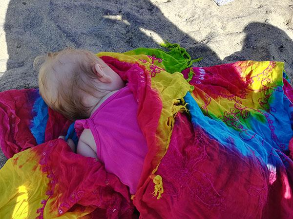 Baby Asleep at the Beach