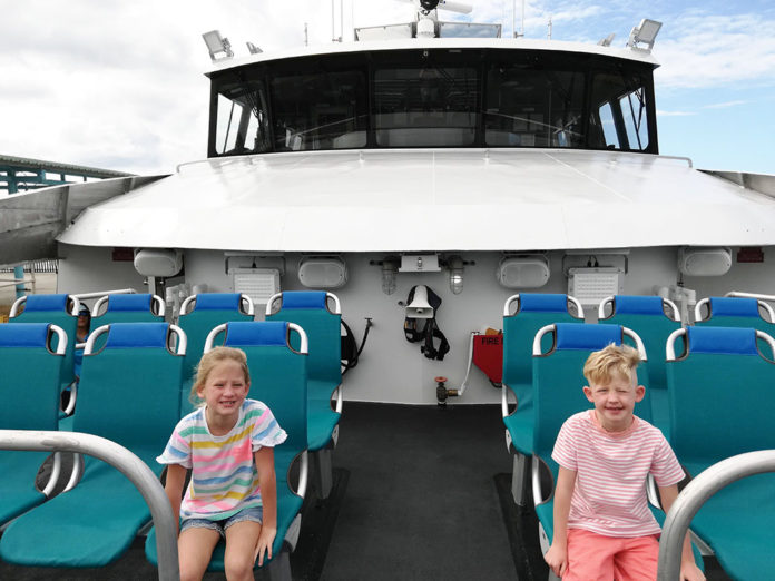 Puerto Rico fast ferries, ferry in Puerto Rico, family ferry, transportation in Puerto Rico, family travel, traveling with kids