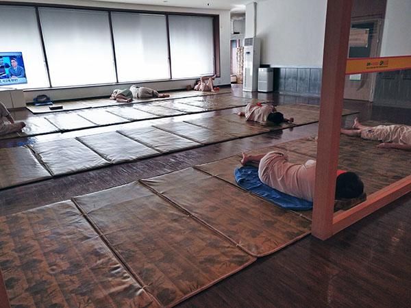 Sleeping Rooms at the Korean Jjimjilbang with Kids in Korea