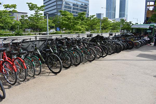 Bike Rental at Central Park Songdo with Kids in Incheon, Korea