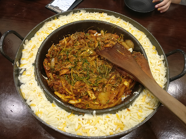 Chicken Galbi in Korea