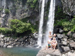 Exploring Waterfalls on a Jeju itinerary