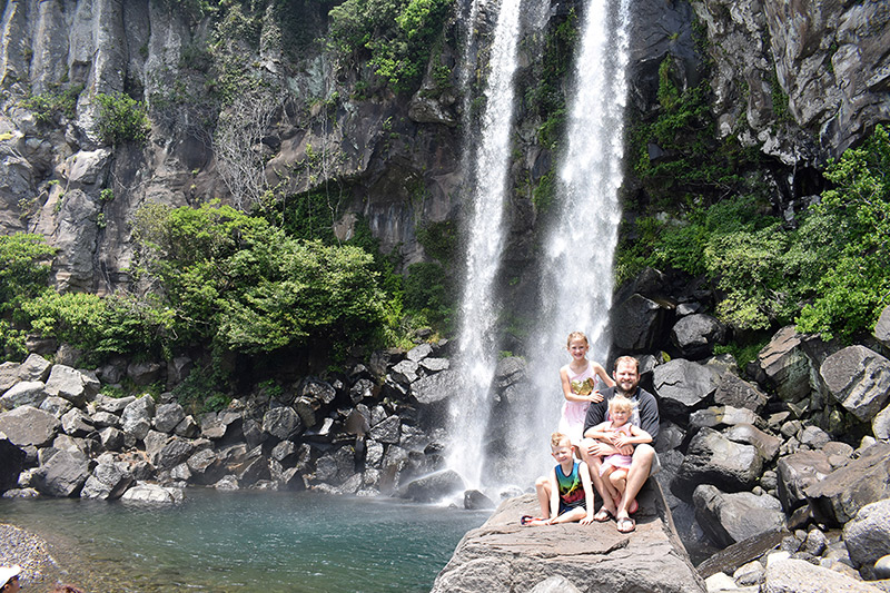 Exploring Waterfalls on a Jeju itinerary