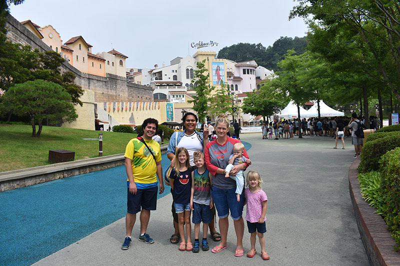 Caribbean Bay Family Day with Friends at Korean Water Park