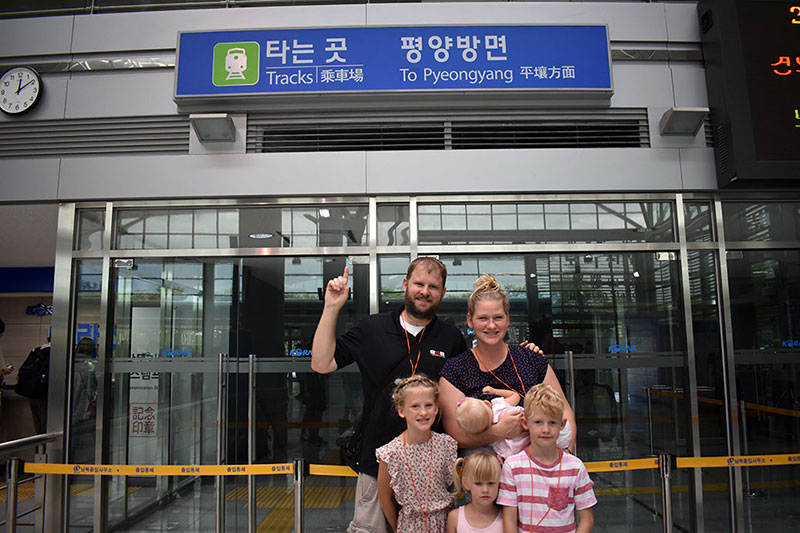 North Korea with Kids Pyeongyang Station, Korea with kids
