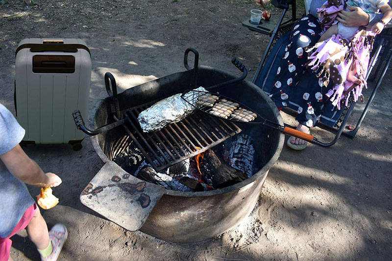 Morning Breakfast Cooked Over a Fire