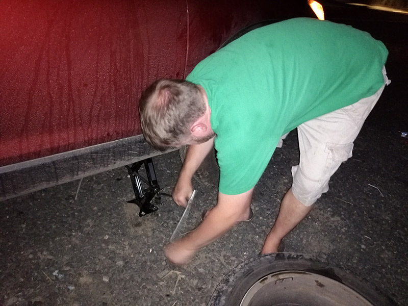 Fixing a Car in Panama