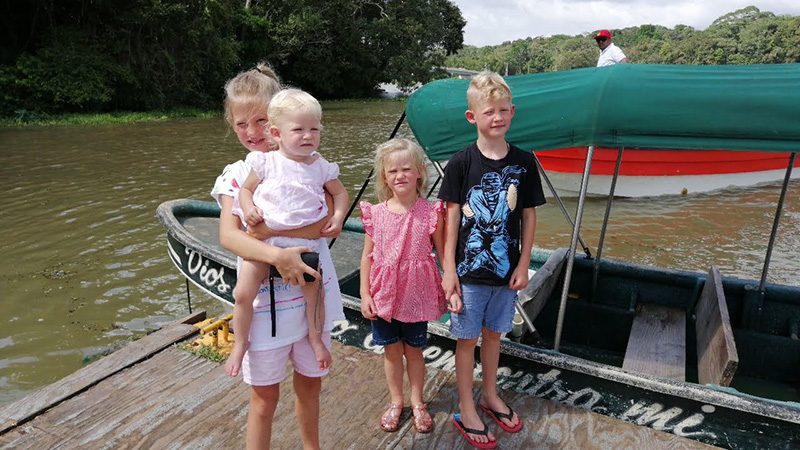 Private Family Boat on the Panama Canal to Monkey Island