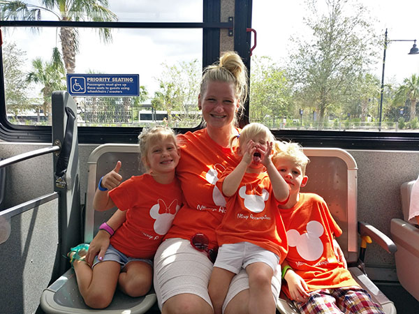 WDW Family Bus Photo