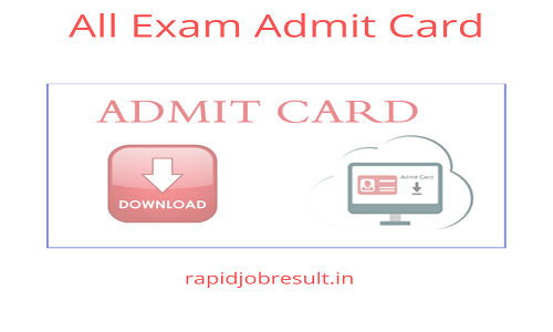 HSSC Staff Nurse Admit Card