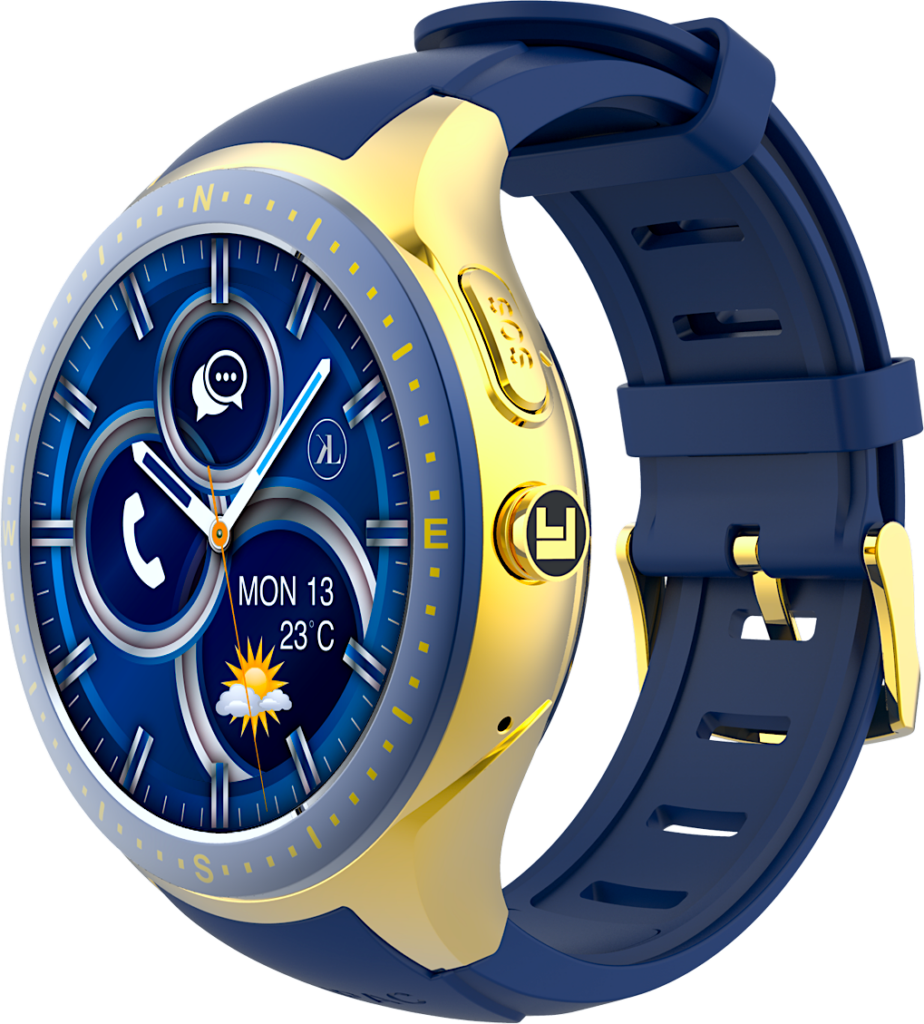 Gold-Blue LooK Watch Product Image