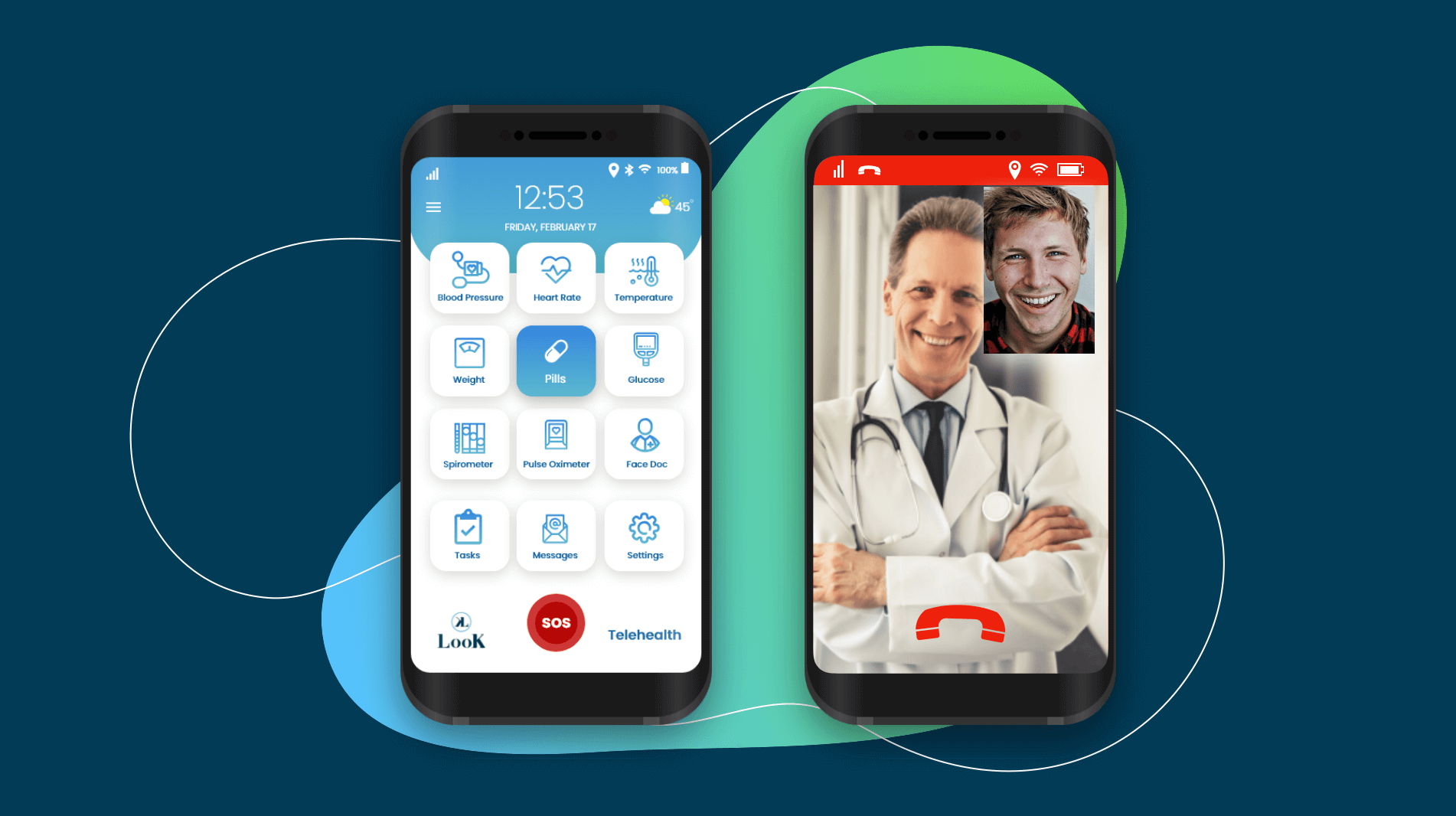 LooK Mobile App Telehealth Graphic