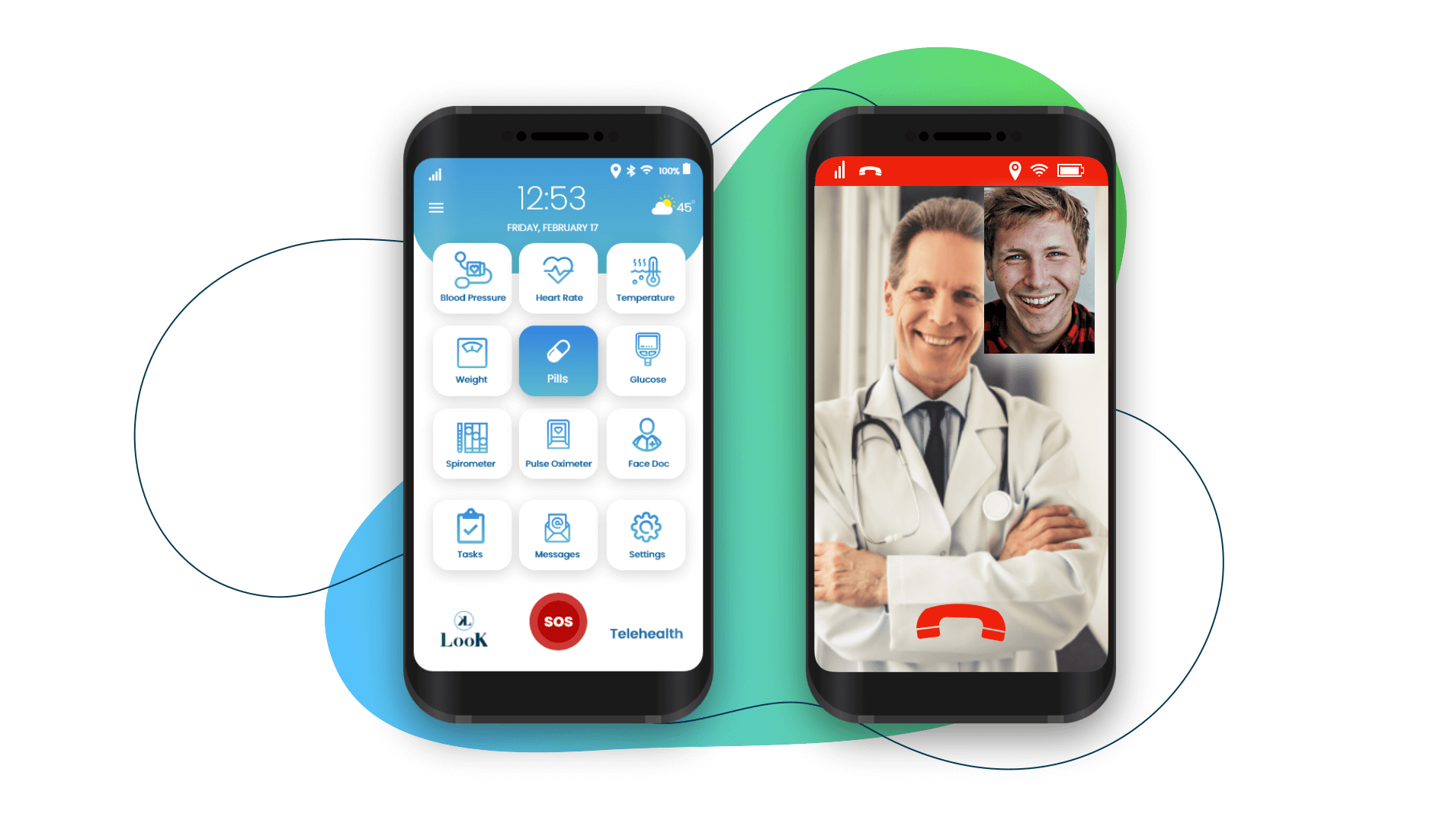 LooK Mobile Telehealth Graphic
