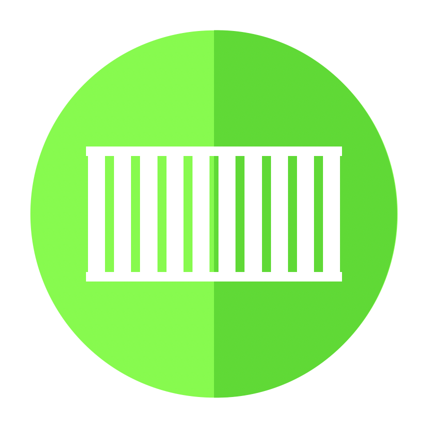Shipping Container Non Powered Stationary Assets Icon