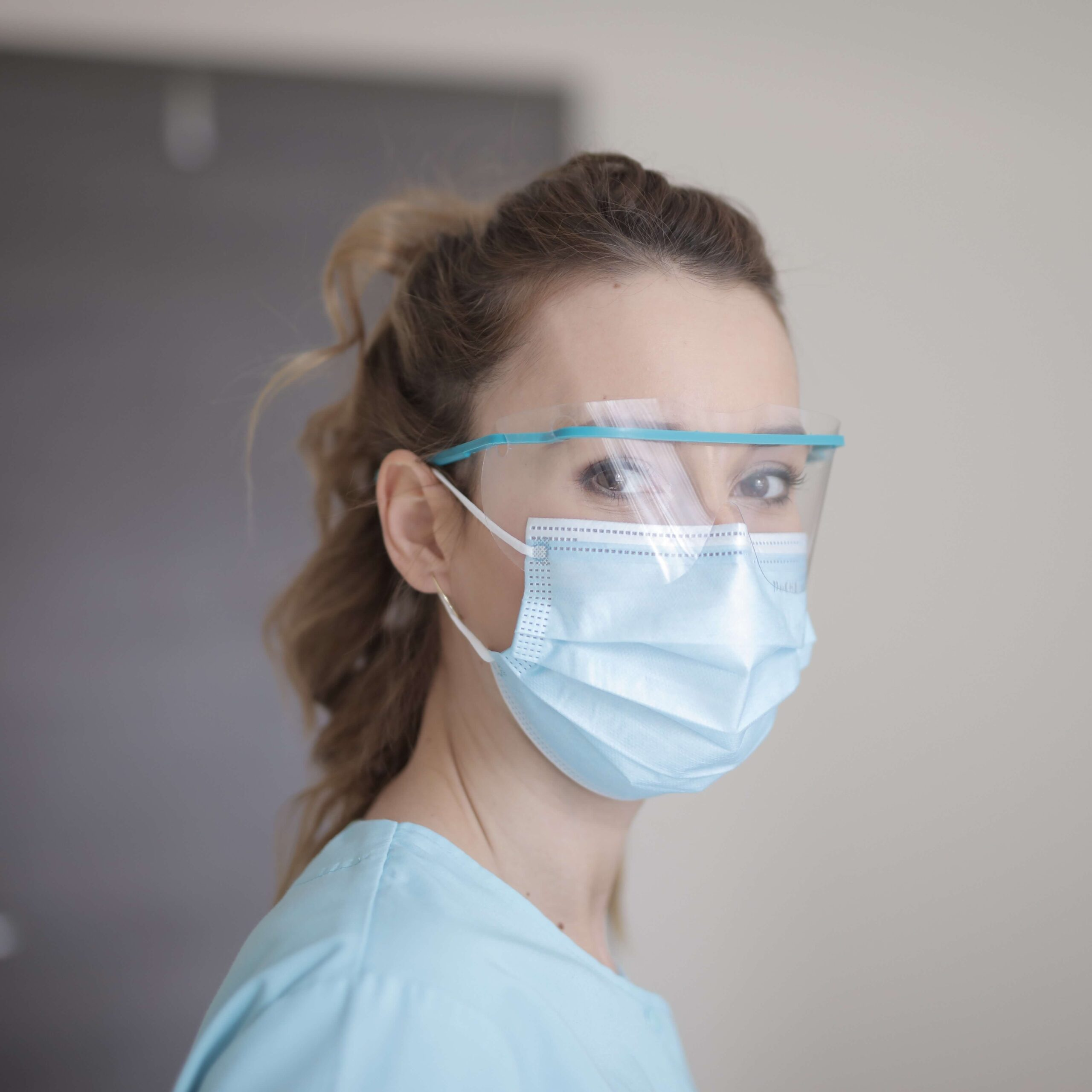 Female Doctor Wearing Mask